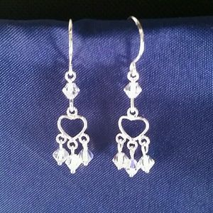 BRAND NEW, NWT. STERLING SILVER W/ CRYSTALS